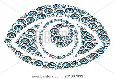 Vision Figure Organized In The Set Of Vision Design Elements. Vector Iconized Composition Designed F