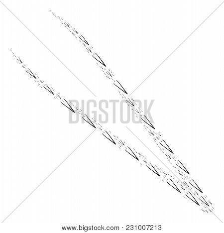 Tweezers Pattern Composed In The Collection Of Tweezers Design Elements. Vector Iconized Collage Des
