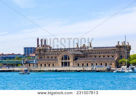 Barcelona, Spain - May 27, 2016: Building Of The State Agency For Tax Administration In The Sea Port