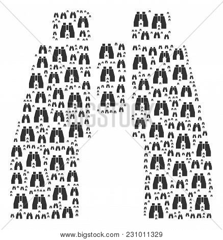 Find Binoculars Pattern Designed In The Collection Of Find Binoculars Pictograms. Vector Iconized Co