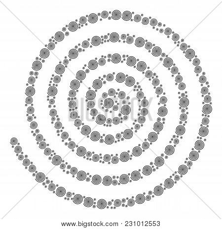 Hypnosis Illustration Organized In The Collection Of Hypnosis Design Elements. Vector Iconized Compo