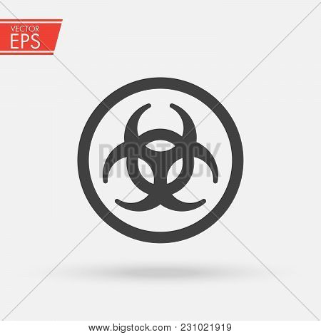 Biohazard Ionizing Radiation Logo Warning Attention Icon. Hazard Radioactive Poison Symbol. Alert Fl
