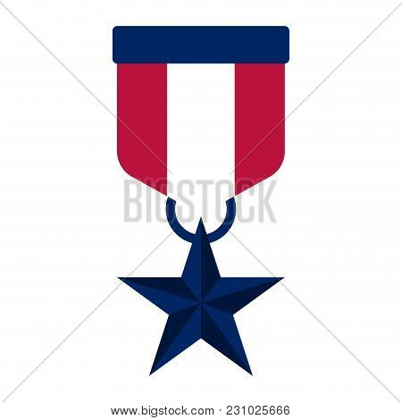 Isolated Honor Medal Icon. Vector Illustration Design