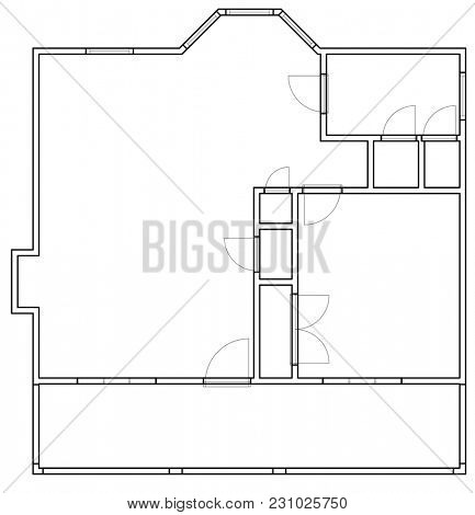 CAD design planning of floor plan for house construction