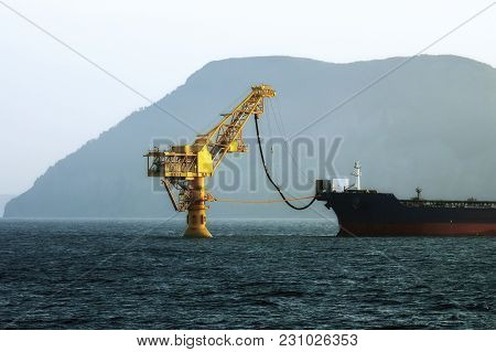 Oil Tanker Filled With Crude Oil In The Far East Of Russia