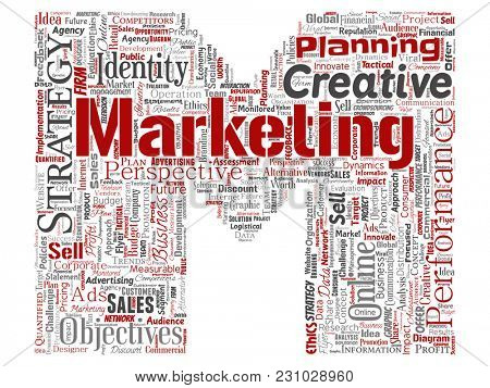 Conceptual development business marketing target letter font M word cloud isolated background. Collage advertising, strategy, promotion branding, value, performance planning or challenge