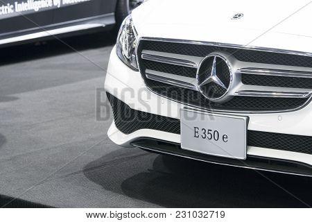 Bangkok-thailand-3 December 2017: Mercedes Benz Car On Display At Motor Show Muangthong 2017 - The B