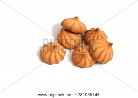 Delicious Shortbread Cookie Without Package On White Background