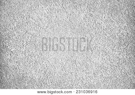 Texture Of Dried White Cement With Pinch In The Center