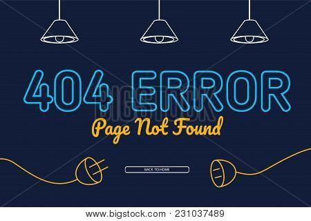 404 Error Not Found Page Background Vector Design