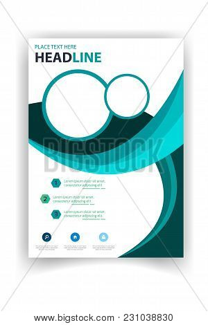Poster Modern Design Circle Template Vector Image