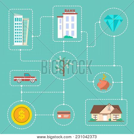 Investing In Future Infographic Concept  Illustration. Flat Design For Smart Investment In Securitie