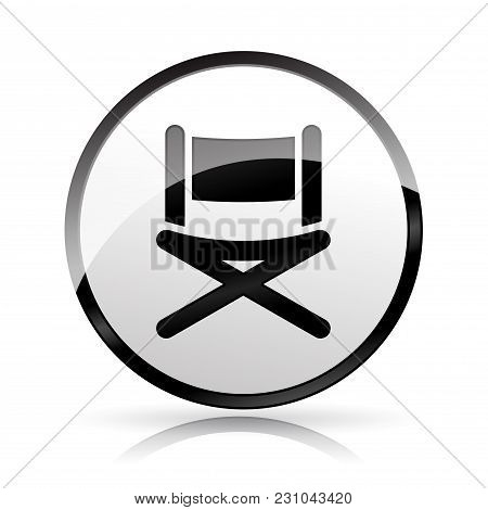 Illustration Of Chair Icon On White Background