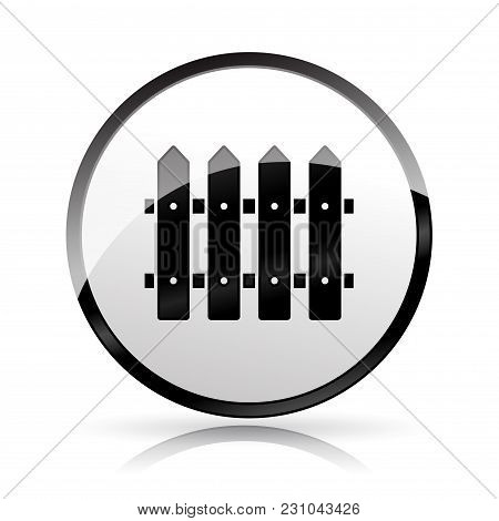 Illustration Of Fence Icon On White Background