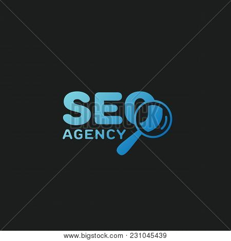Seo Agency Logo Template Design. Vector Illustration.