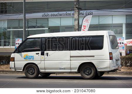Private Mitsubishi Delica Old Van Car.