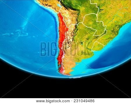 Satellite View Of Chile