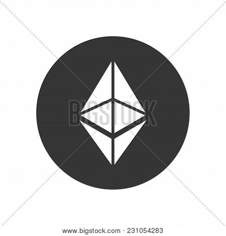 Ethereum Coin Sign. Crypto Currency Icon. Vector Illustration