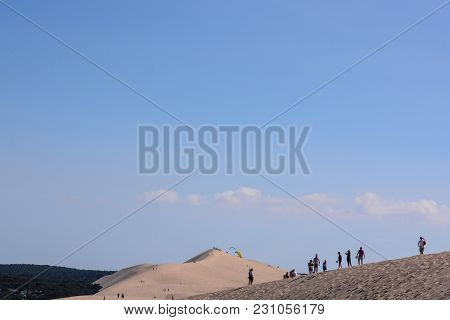 Photo Picture Famous Dune Of Pyla The Highest Desert Dune In Europe France.