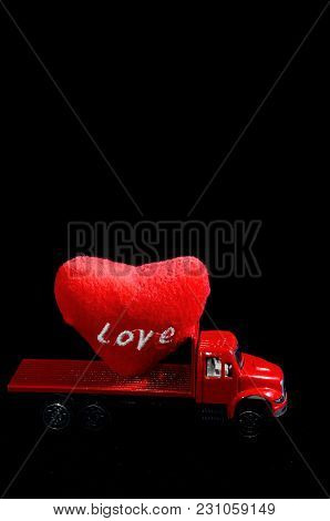 Love Concept Of Truck Loading Lovely Heart, A Perfect Gift Or Present For Someone Special.