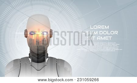 Cybernetic Robot Concept Web Banner