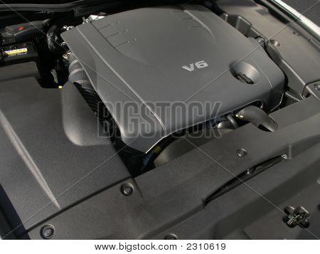 Luxury Car V6 Engine