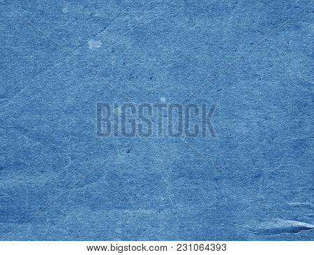 Old Blue Cardboard Surface. Abstract Background And Texture For Design And Ideas.