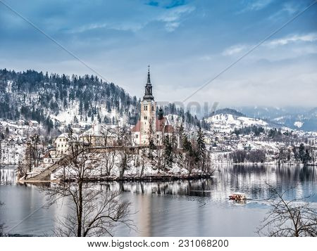 The Pilgrimage Church of the Asumption of Maria on Bled island, Slovenia, Europe