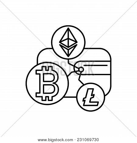 Crypto Wallet Icon Outline Illustration Of Vector For Web And Advertising