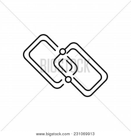 Chain Icon. Outline Illustration Of Chain Link Vector Icon For Web And Advertising