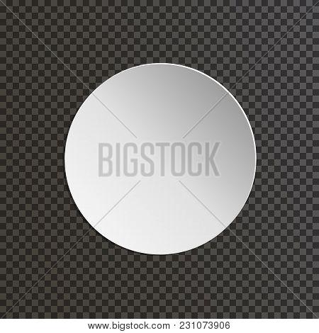 Round Paper Plate On Transparent Background. Vector Illustration