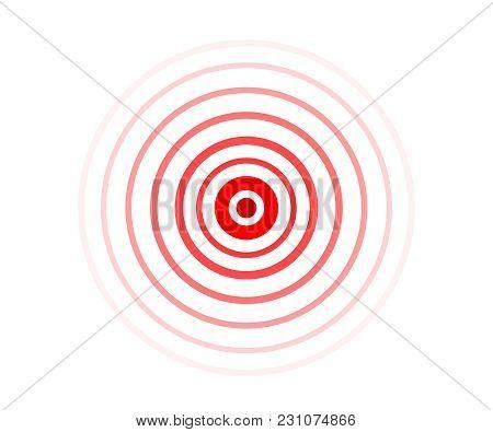 Red Pain Circle Vector Illustration Symbol Icon