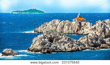 Small Island In The Mediterranean Off Dubrovnik