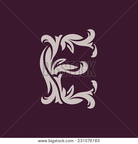 Abstract Letter Symbol Isolated On Dark Background