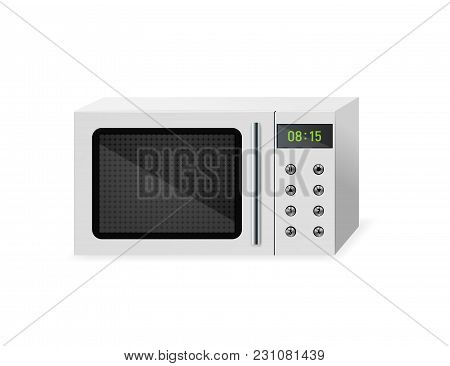 Microwave. Household Electrical Equipment. Vector Illustration Kitchen Appliances