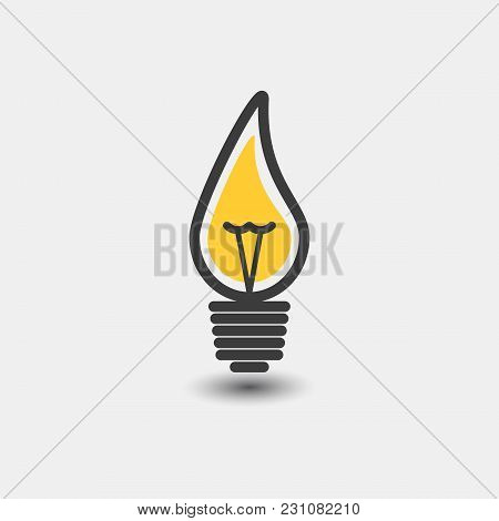 Light Bulb Vector Icon Line, Isolated On White Background. The Idea Is A Sign, A Solution, A Concept