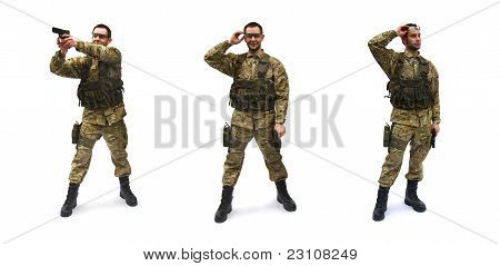 airsoft soldier white background
