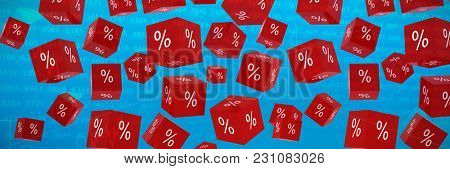 Vector sign of percentage against stocks and shares