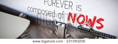 Forever is composed of nows against a er
