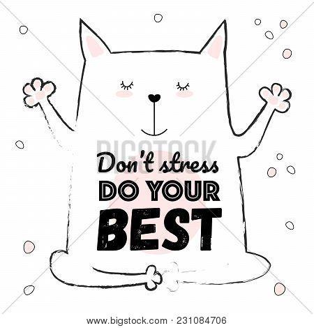 Vector Cartoon Sketch Cat Illustration