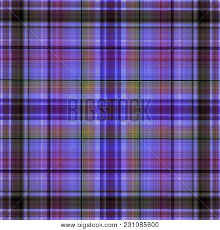 Multicolored Checkered Cotton Or Linen Fabric Pattern. It Can Be Used For Spring Or Summer Clothes,