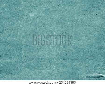 Old Cyan Color Cardboard Surface. Abstract Background And Texture For Design And Ideas.