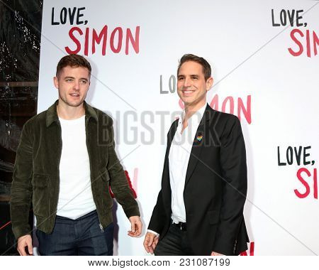 LOS ANGELES - MAR 13:  Robbie Rogers, Greg Berlanti at the