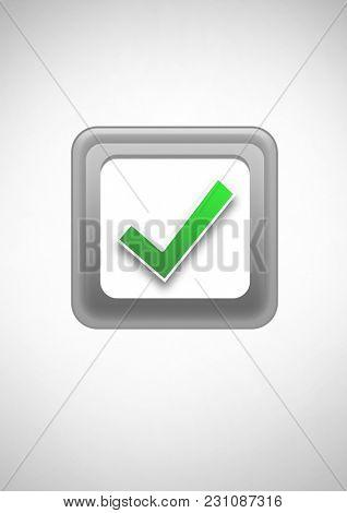 Digital composite of Correct tick box