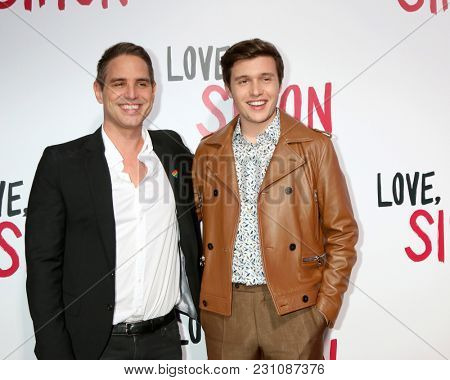 LOS ANGELES - MAR 13:  Greg Berlanti, Nick Robinson at the