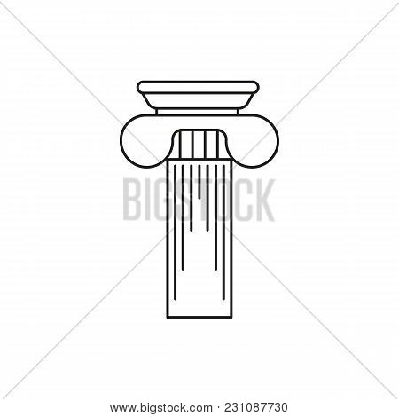 Greek Column Icon. Outline Illustration Of Greek Column Vector Icon For Web And Advertising