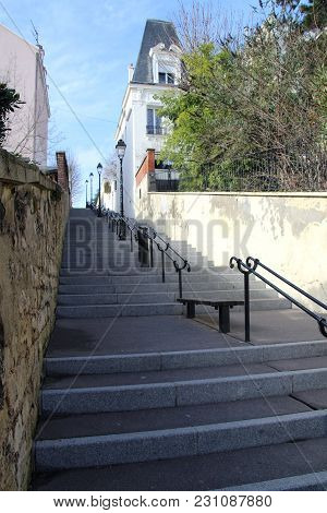 Cityscape Stairs Giving Acces To A Street