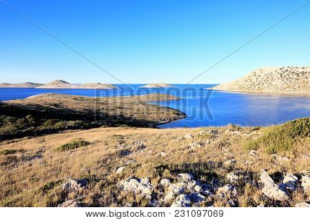 Drywall In Kornati Islands, Mediterranean Sea, Croatia