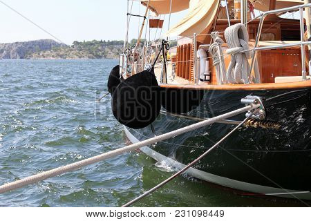 Beautiful Old Sailing Boat Moored In Sibenik, Croatia