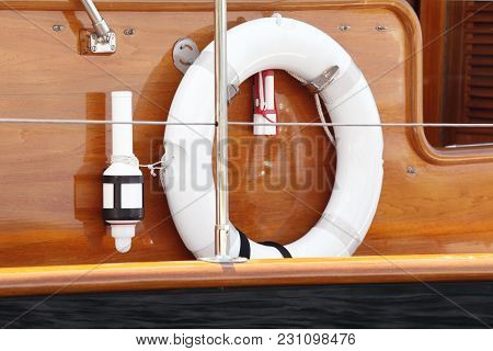 Detail Of Beautiful Wooden Old Sail Boat